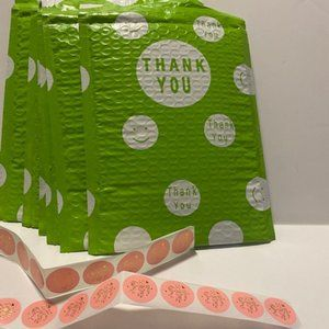 """15 Padded """"Thank You"""" Mailers and Stickers!"""